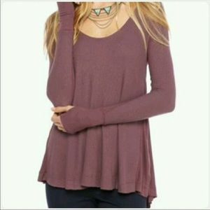 Free People Thermal Top in Twilight Mauve